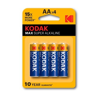 Blister pilas kodak alcalina max aa lr6 1.5v -  4 pilas - Imagen 1