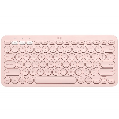 Logitech K380 teclado Bluetooth QZERTY Español Rosa - Imagen 1