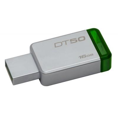 Kingston Technology DataTraveler 50 16GB unidad flash USB USB tipo A 3.2 Gen 1 (3.1 Gen 1) Verde, Plata - Imagen 1