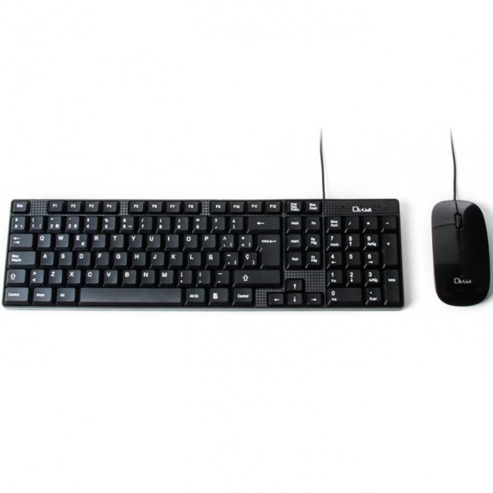Kit teclado + raton l - link ll - kb - 816 - combo usb negro - Imagen 1