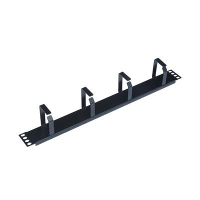 Panel pasa cables wp 1u -  metalico -  negro - Imagen 1