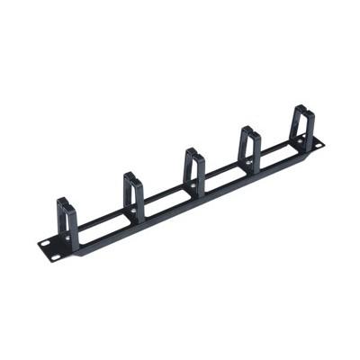 Panel pasa cables wp 1u plastico  negro - Imagen 1