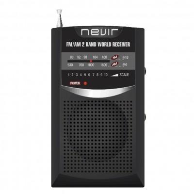 Radio nevir de bolsillo nvr - 136 negro - Imagen 1