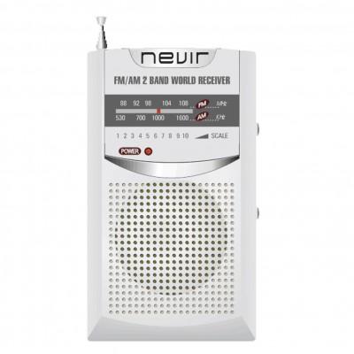 Radio nevir de bolsillo nvr - 136 plata - Imagen 1