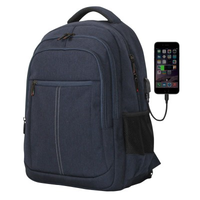 Mochila phoenix boston para portatil hasta 15.6 pulgadas -  con cable usb - viaje - azul - Imagen 1