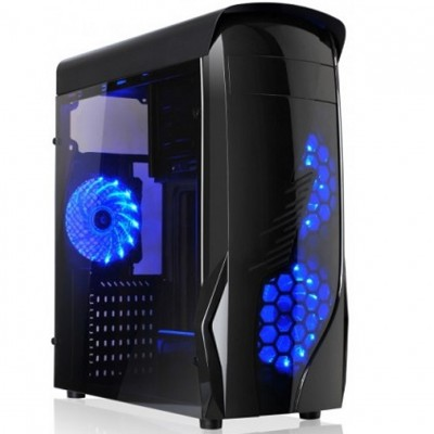 Caja ordenador gaming l - link kron atx usb 3.0 sin fuente - Imagen 1