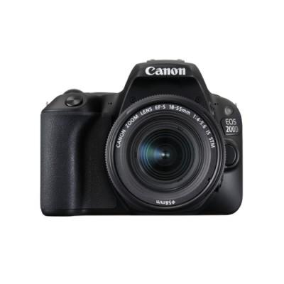 Canon EOS 200D + EF-S 18-55mm 4.0-5.6 IS STM Juego de cámara SLR 24,2 MP CMOS 6000 x 4000 Pixeles Negro - Imagen 1