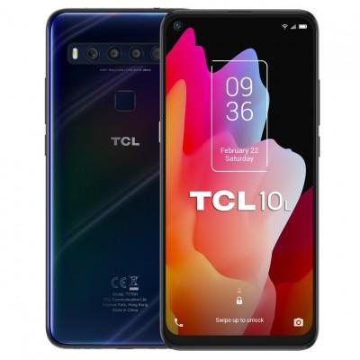 Telefono movil smartphone tcl 10l dark blue - 6.53pulgadas - 64gb rom - 6gb ram - 48+8+2+2mpx -  16mpx - octa core - 4g - dual s