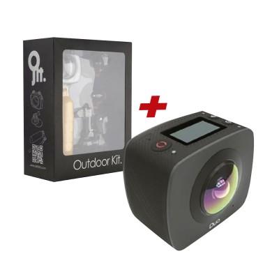 Kit camara 360 gigabyte 360 jolt duo +kit aventura - Imagen 1