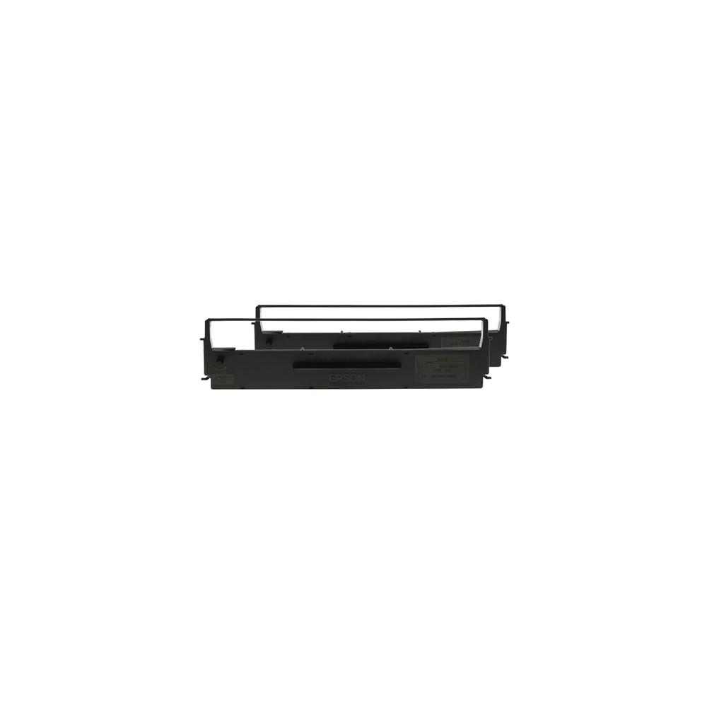 Epson SIDM Black Ribbon Cartridge for LQ-350/300+/300+II, Dualpack (C13S015646) - Imagen 1