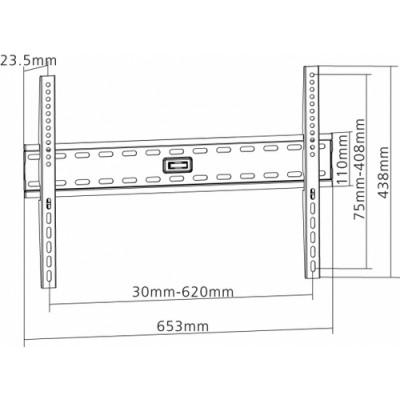 "Equip 650330 soporte de pared para pantalla plana 177,8 cm (70"") Negro - Imagen 2"