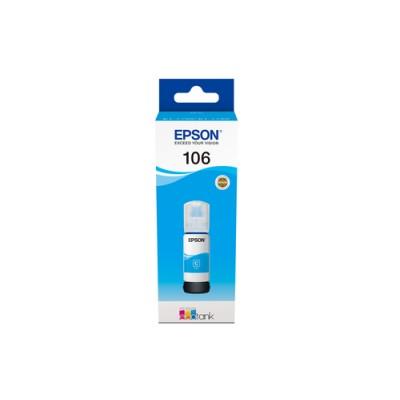 Epson 106 EcoTank Cyan ink bottle - Imagen 1