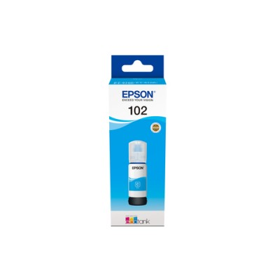 Epson 102 EcoTank Cyan ink bottle - Imagen 1