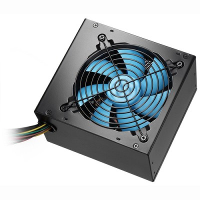 CoolBox Powerline Black 600 unidad de fuente de alimentación 600 W 20+4 pin ATX ATX Negro - Imagen 1