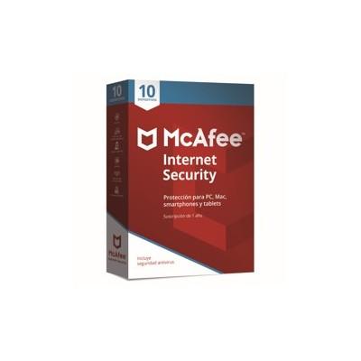 Antivirus mcafee internet security 2019 10 dispositivos - Imagen 1