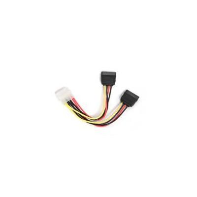 Cable de alimentacion corriente cc - sata - psy molex a 2 sata i -  0.15m - Imagen 1