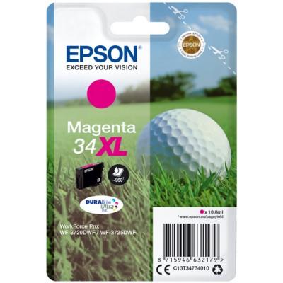 Epson Golf ball Singlepack Magenta 34XL DURABrite Ultra Ink - Imagen 1