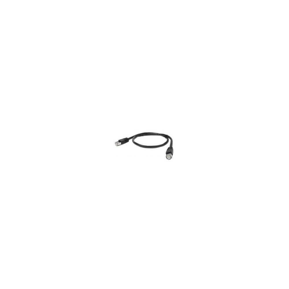Cable red latiguillo rj45 ftp cat 6 1m negro - Imagen 1