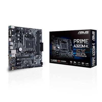 ASUS MB PRIME A320M-K placa base Zócalo AM4 Micro ATX AMD A320 - Imagen 1