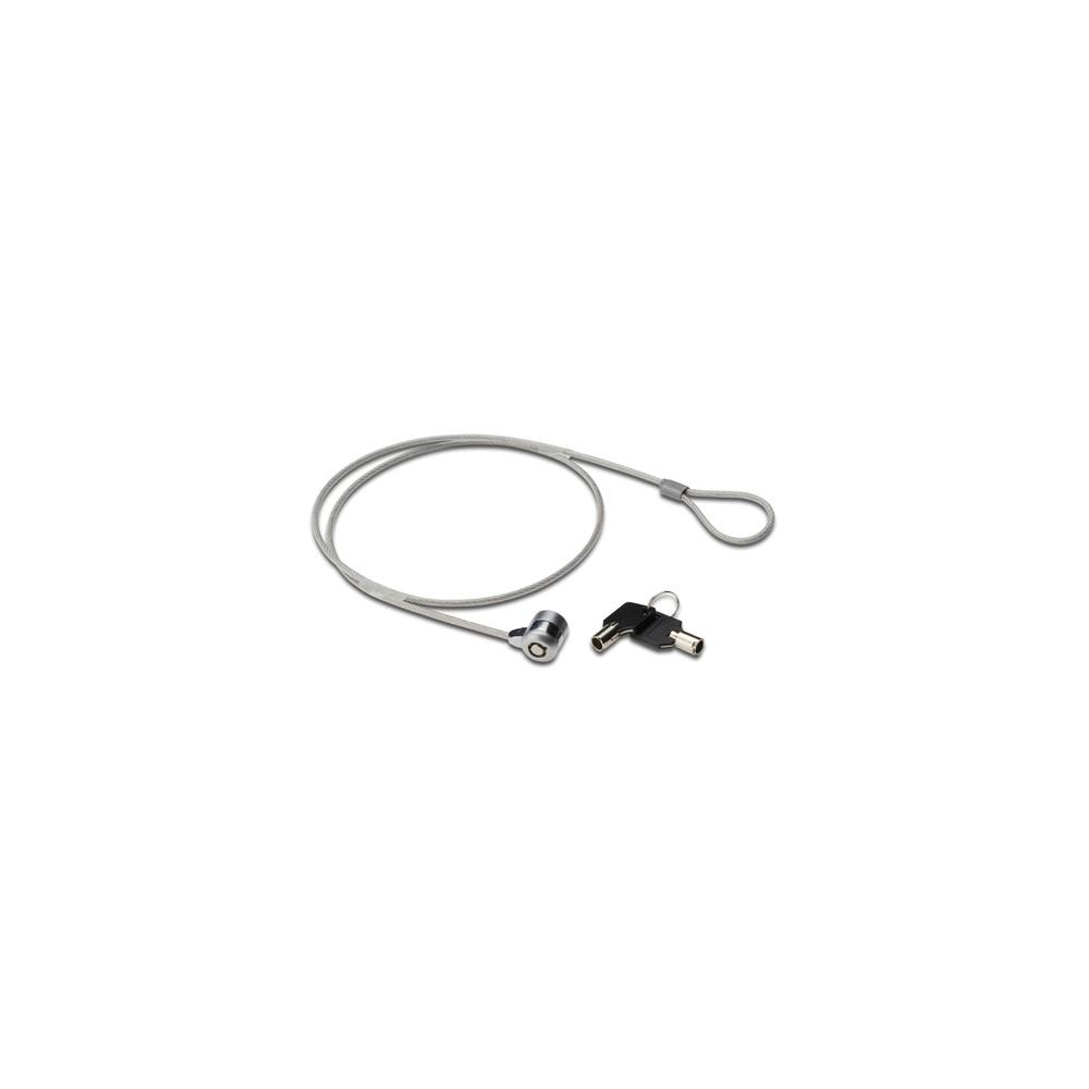 Ewent EW1242 cable antirrobo Negro, Acero inoxidable 1,5 m - Imagen 1