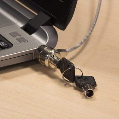 Ewent EW1242 cable antirrobo Negro, Acero inoxidable 1,5 m - Imagen 4