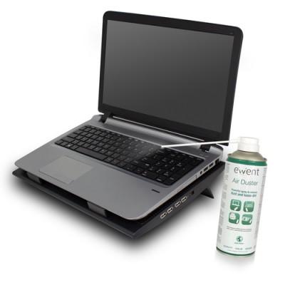 Ewent EW5601 kit de limpieza para computadora Limpiador de aire comprimido para limpieza de equipos Lugares difíciles de alcanza