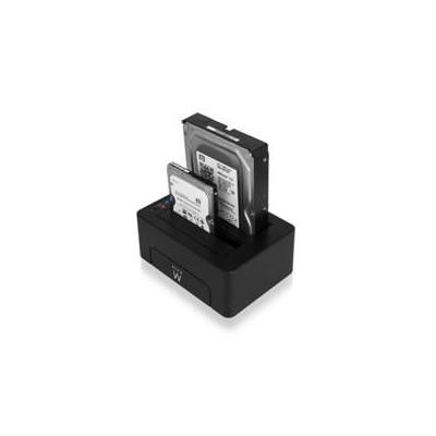 Estacion de acoplamiento ewent para unidad de disco duro y de estado solido sata 2.5pulgadas y 3.5pulgadas -  usb 3.0 - Imagen 1