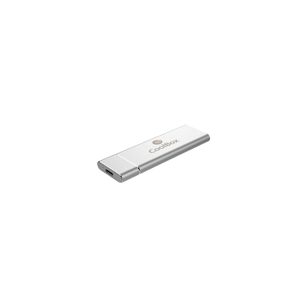 CoolBox MiniChase N31 M.2 Caja externa para unidad de estado sólido (SSD) Plata - Imagen 1