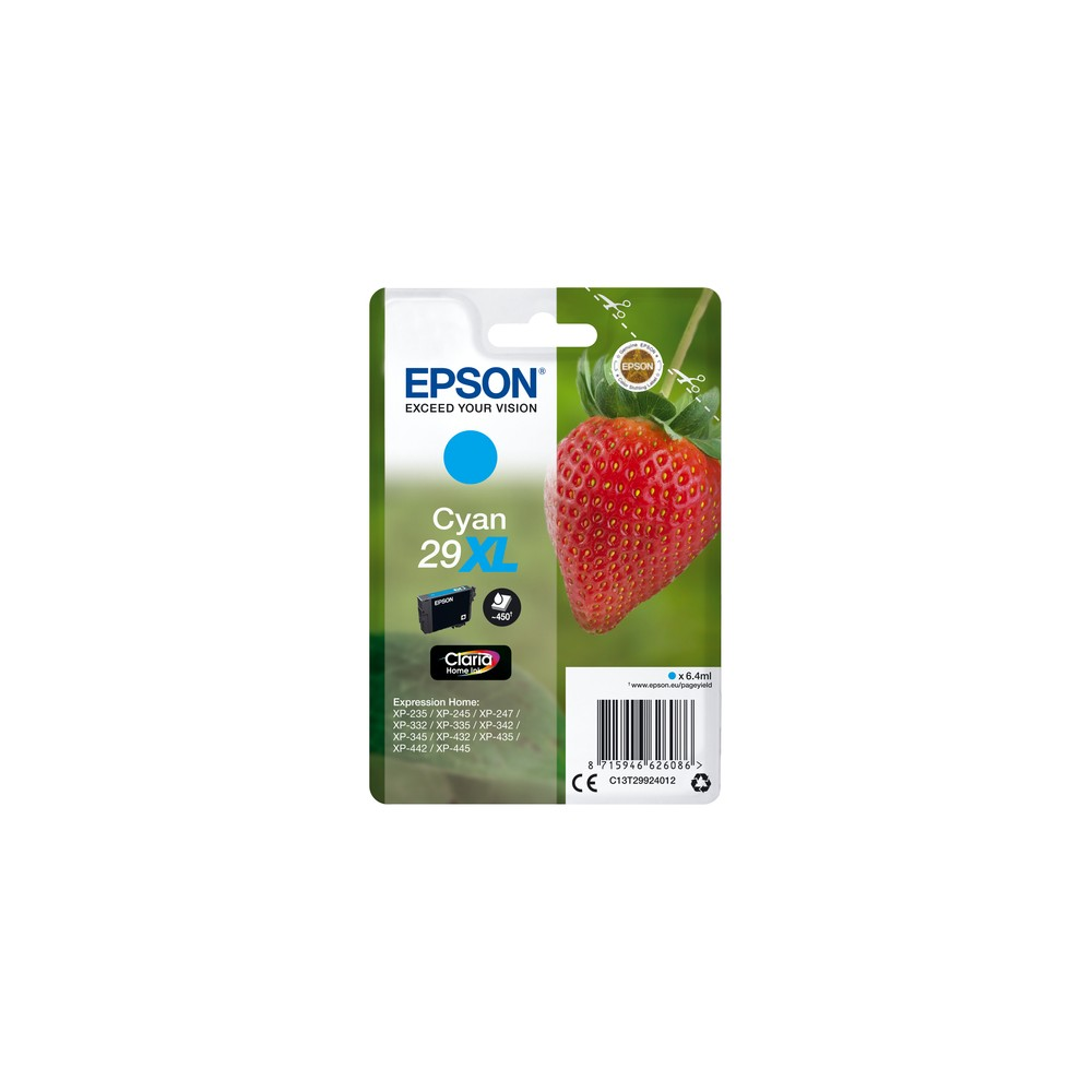 Epson Strawberry Singlepack Cyan 29XL Claria Home Ink - Imagen 1
