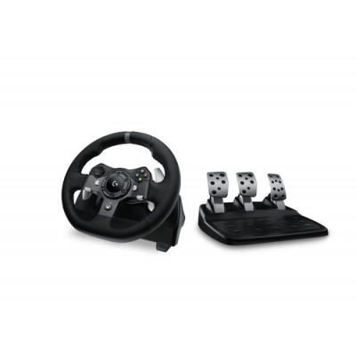 Logitech G920 Volante + Pedales PC,Xbox One Analógico/Digital USB 2.0 Negro - Imagen 1