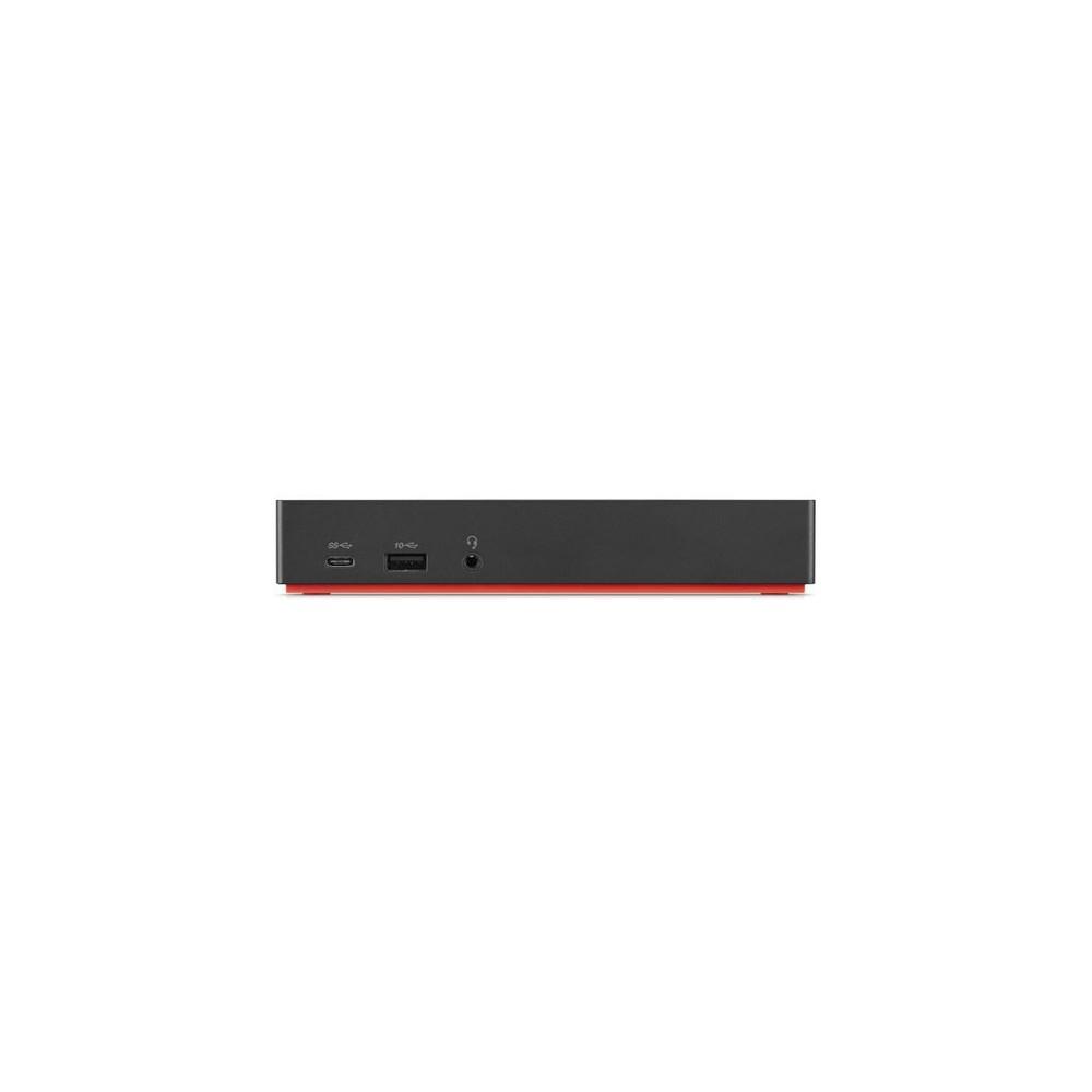 Lenovo 40AS0090EU base para portátil y replicador de puertos Alámbrico USB 3.2 Gen 1 (3.1 Gen 1) Type-C Negro - Imagen 1