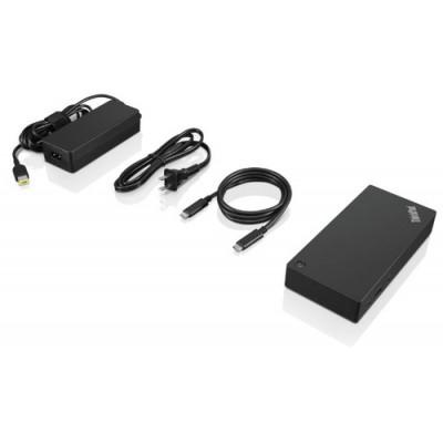 Lenovo 40AS0090EU base para portátil y replicador de puertos Alámbrico USB 3.2 Gen 1 (3.1 Gen 1) Type-C Negro - Imagen 2