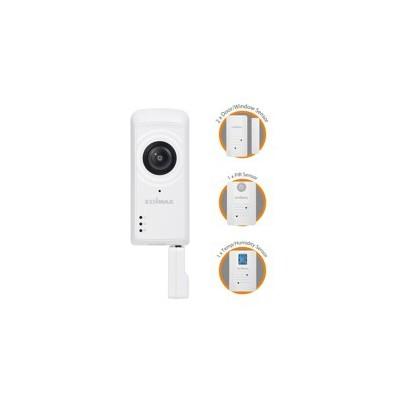 Kit de domotica edimax  - camara -  2 sensores de puerta - sensor movimiento -  control de temperatura y humedad - Imagen 1