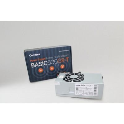CoolBox BASIC500GR-T unidad de fuente de alimentación 500 W 20+4 pin ATX TFX Gris - Imagen 1