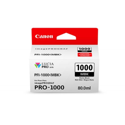 Canon PFI-1000 MBK Original Negro mate - Imagen 1