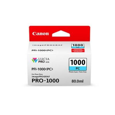 Canon PFI-1000 PC Original Fotos cian - Imagen 1