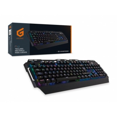 Conceptronic KRONIC teclado USB QWERTY Español Negro - Imagen 4