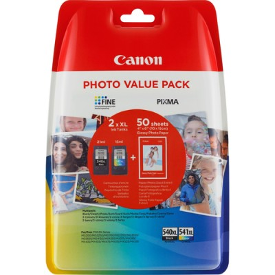Canon PG-540XL/CL541XL Original Negro, Cian, Amarillo, Magenta Multipack 2 pieza(s) - Imagen 1