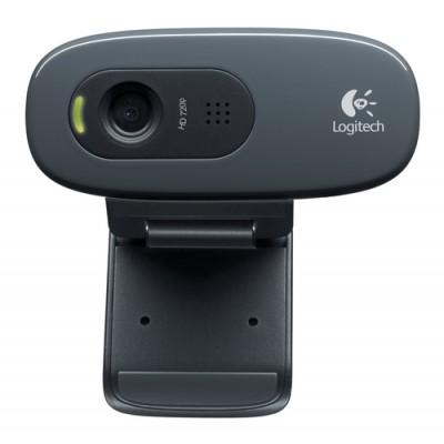 Logitech C270 cámara web 3 MP 1280 x 720 Pixeles USB 2.0 Negro - Imagen 1