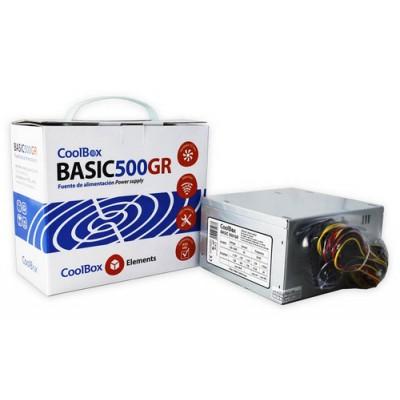 CoolBox Basic 500GR unidad de fuente de alimentación 300 W 20+4 pin ATX ATX Metálico - Imagen 1
