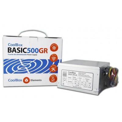 CoolBox Basic 500GR unidad de fuente de alimentación 300 W 20+4 pin ATX ATX Metálico - Imagen 2