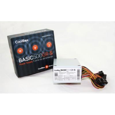 CoolBox BASIC500GR-S unidad de fuente de alimentación 500 W 20+4 pin ATX SFX Blanco - Imagen 1