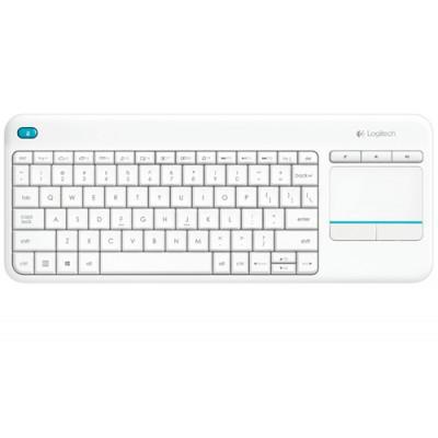 Logitech K400 Plus teclado RF inalámbrico QWERTY Blanco - Imagen 1
