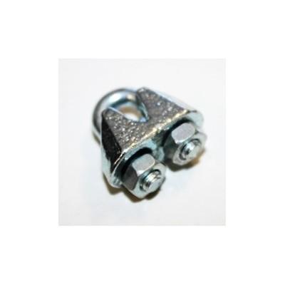 Sujeta cables recto galvanizado din - 741 3 mm. - Imagen 1