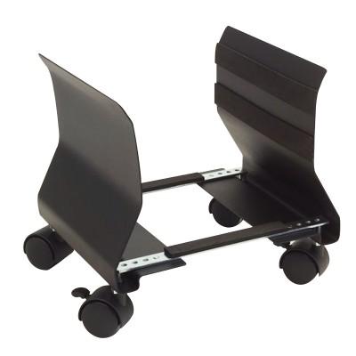 Soporte cpu - ordenador  phoenix adaptable con ruedas material muy resistente acero negro - Imagen 1