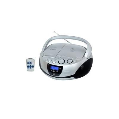 Radio cd mp3 portatil nevir nvr - 480ub plata - bluetooth - Imagen 1