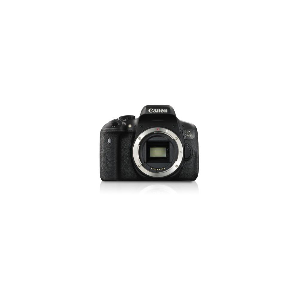 Canon EOS 750D Cuerpo de la cámara SLR 24,2 MP CMOS 6000 x 4000 Pixeles Negro - Imagen 1