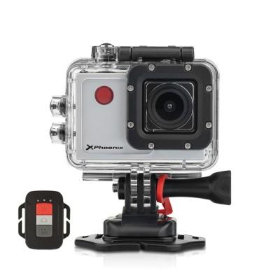 Video camara sport phoenix xsport wi - fi pantalla 2.0pulgadas fhd  mando distancia  12mpx estabilizador de imagen  micro hdmi r