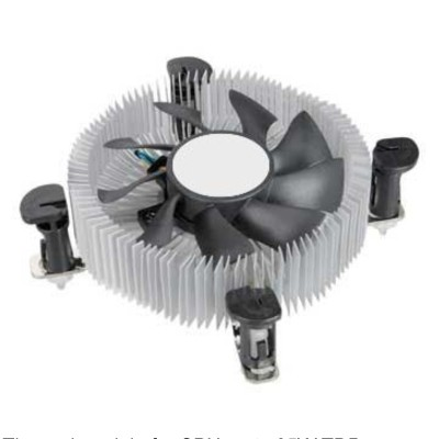 Ventilador  bajo perfil modelo intel lga 1150 - Imagen 1