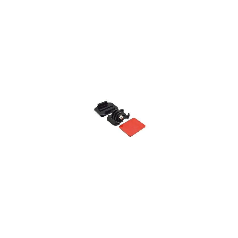 Accesorio soporte adhesivo curvo 3m  para casco phoenix para fijar camaras sport & gopro hero 4 - 3+ - 3 - 2 - 1 de color negro